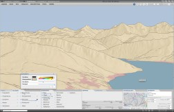 New 3D map type: Panorama map with silhouette