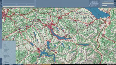 2D Basemap Switzerland: Combination of all map layers