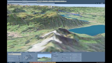 Viewing point and viewing direction: Definition of a new panoramic view in the terrain model