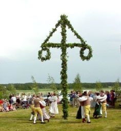 Midsommar pole and celebrations