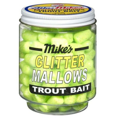 5210 Mike's Glitter Glo Mallows - Chartreuse/Cheese