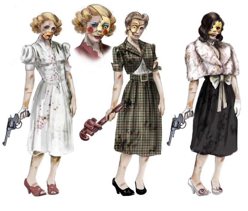Original concept art from Bioshock