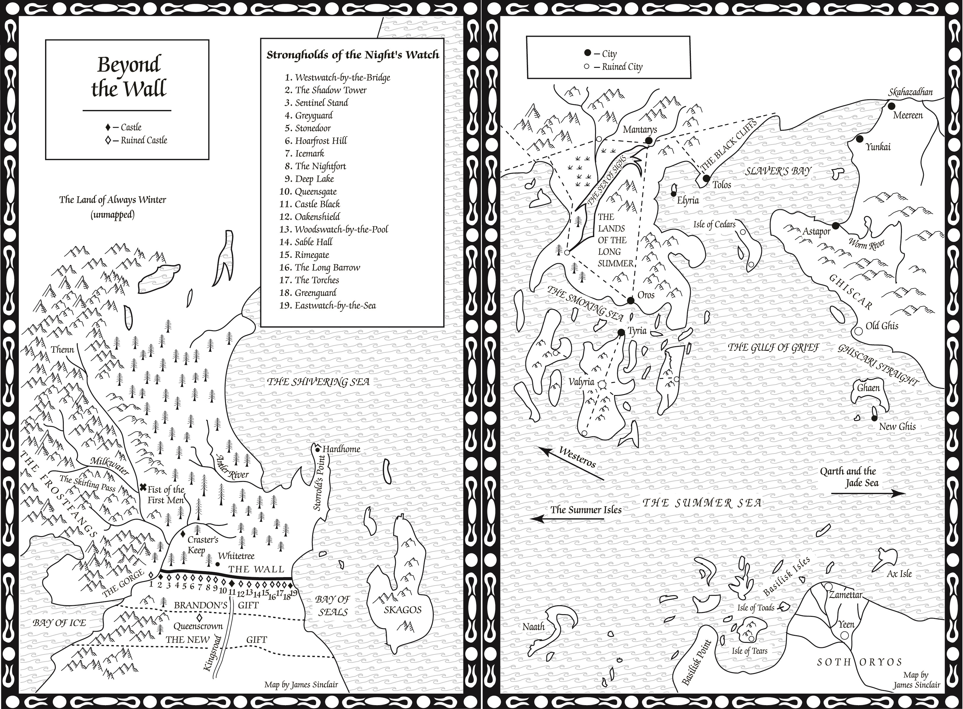 Map Of Westeros And Beyond