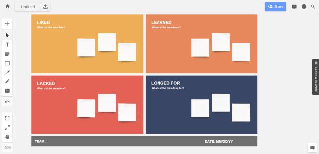 "Sprint retrospective idea #4: template for the ""4 Ls"""