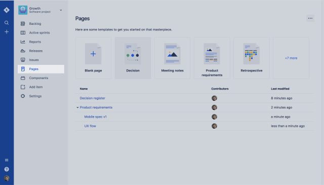 pages screen shot