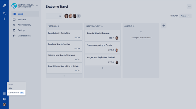 try Confluence from Jira