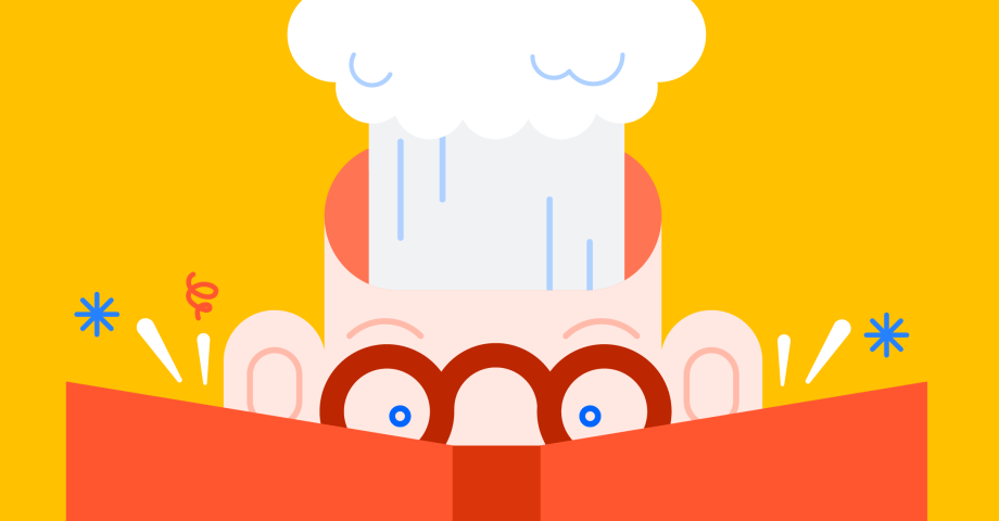 Illustration of someone reading a book and their head exploding