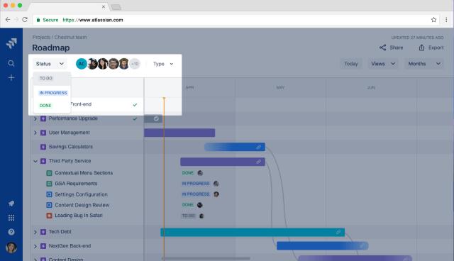 Jira roadmap filters