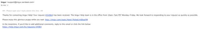 Imgur customer service email