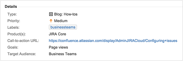 Jira Core Issue Detail View
