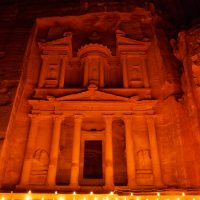 The Treasury of Petra at Night