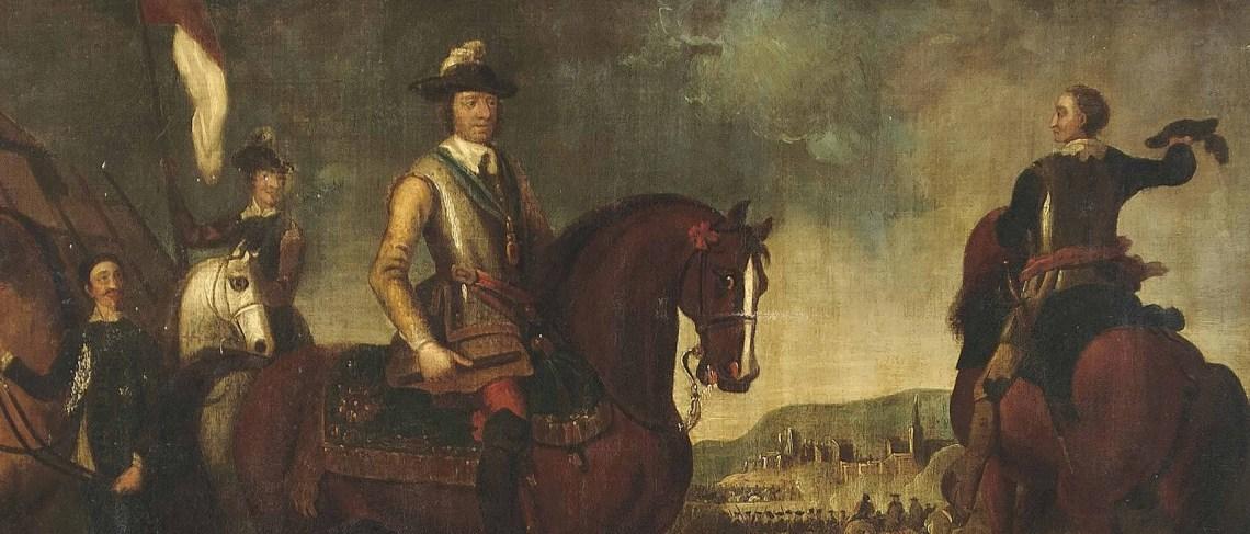 Oliver Cromwell podczas bitwy pod Worcester (1651), autor nieznany. Źródło: Wikimedia commons