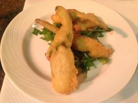 Fiori di zucchine fritti - fritierte Zucchiniblüte