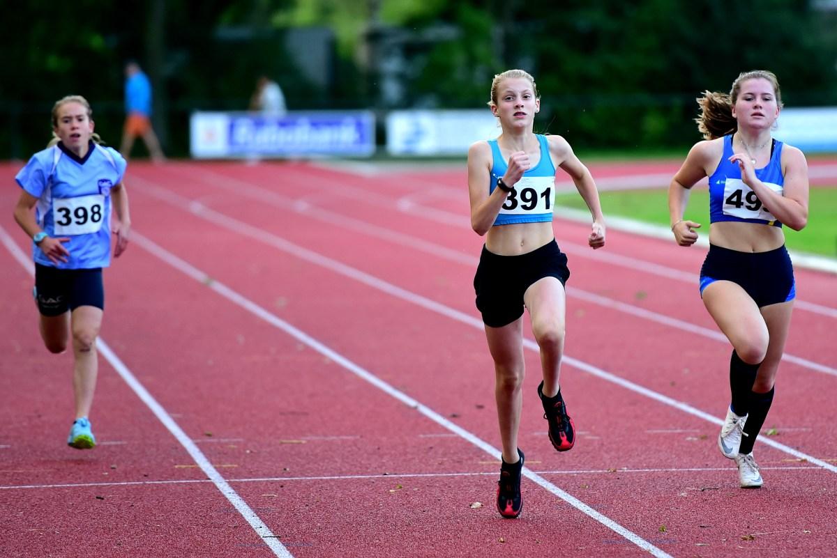 Lieve tijdens haar eerste 200m