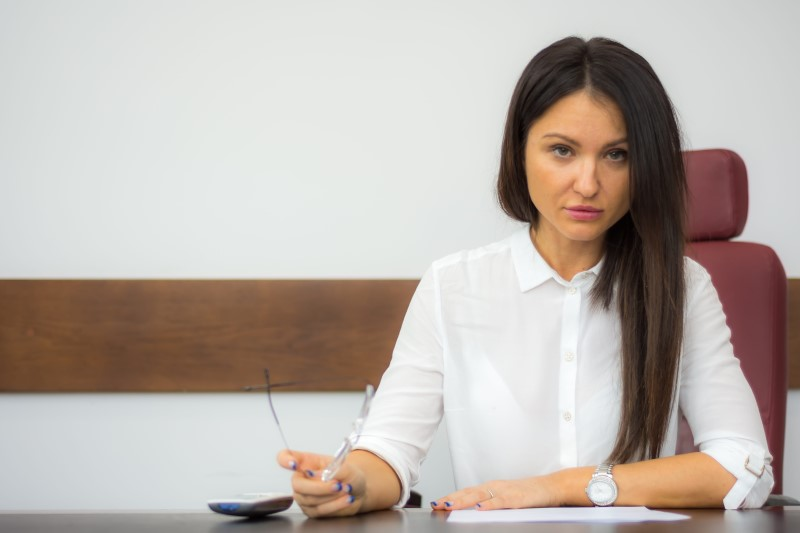 Lady at a desk - personal injury lawyer
