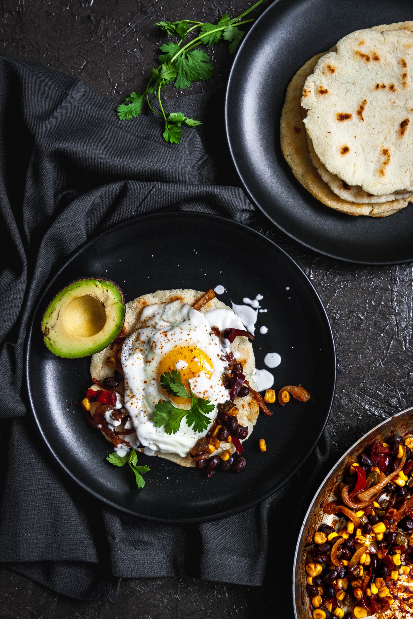 Food photography of a breakfast areap