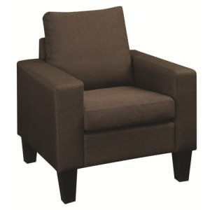 Bachman Upholstered Chair with Track Arms and Tapered Wood Legs