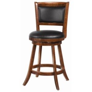 Dining Chairs and Bar Stools 24″ Swivel Bar Stool with Upholstered Seat