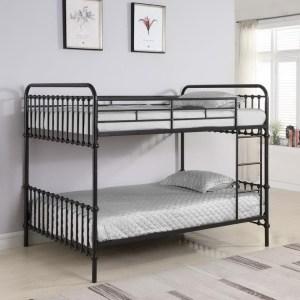 Hankin Twin Over Twin Bunk Bed Dark Bronze