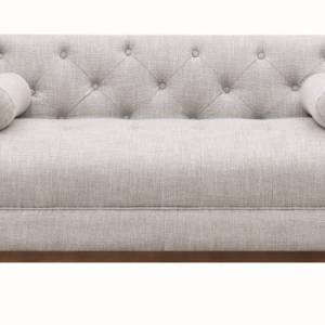 Celle Upholstered Tufted Loveseat Light Grey