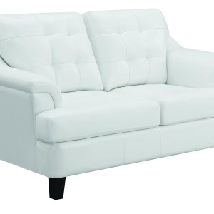 Freeport Upholstered Tufted Loveseat Snow White