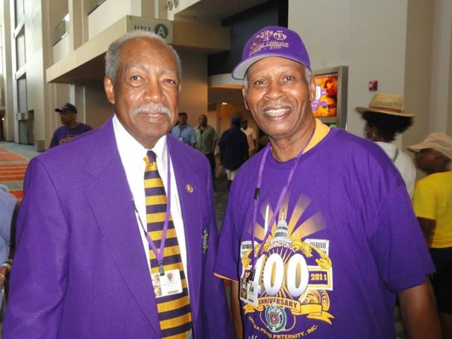 Friends and Fraternity Brothers Dr Alfred Wyatt Sr and the late John B Smith Sr Photo by John B. Smith, Jr., in 2011, in Washington, DC