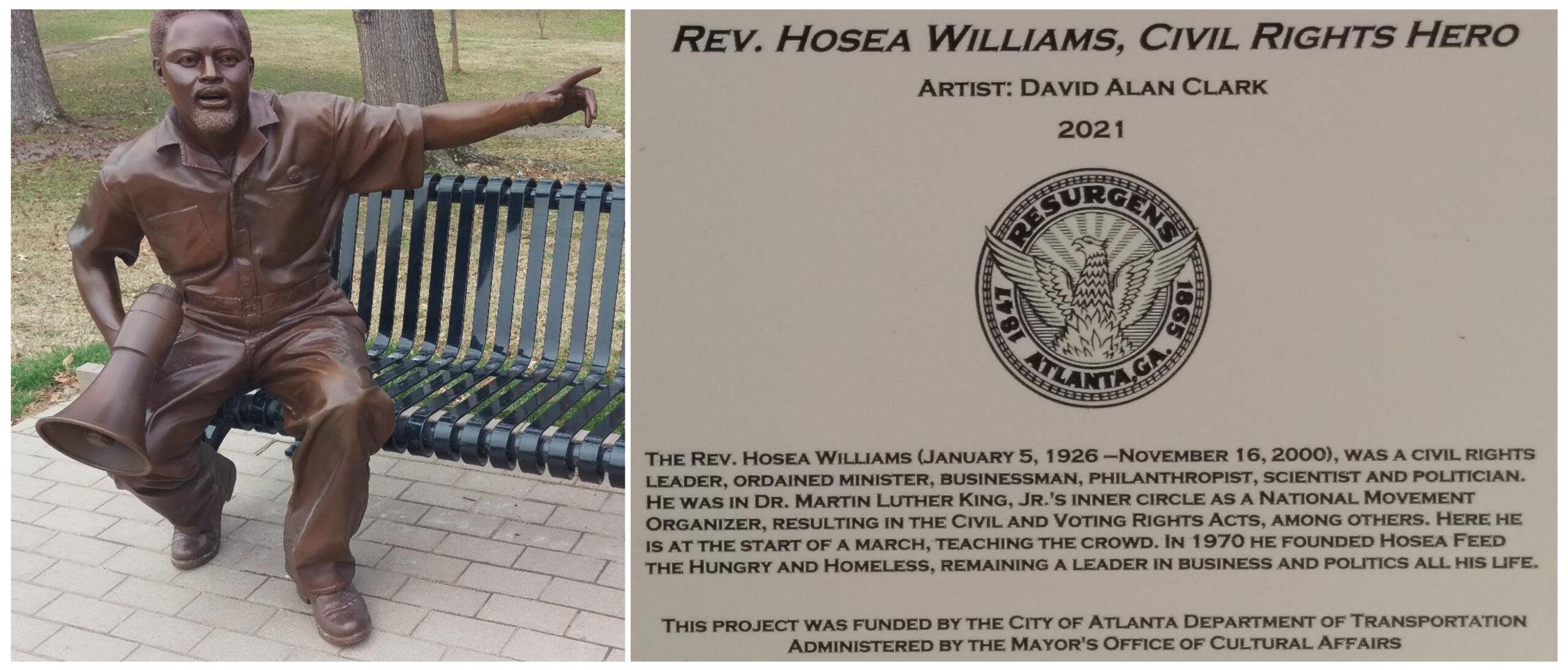 Bronze Art of Reverend Hosea Williams, Photos by John B. Smith, Jr.