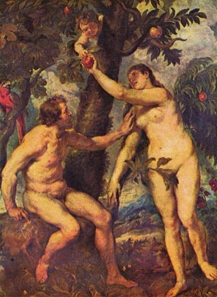 Adam, Eve and the apple