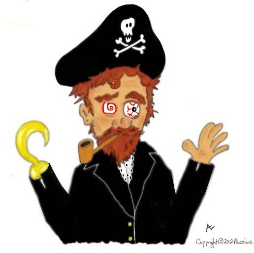 pirate missing an eyepatch