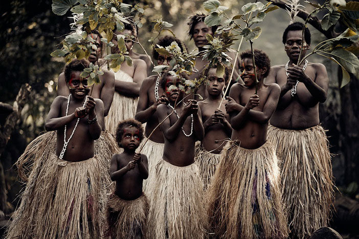 Yakel villagers on Tanna Island - Jimmy Nelson