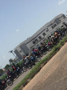COVID19: Panic, as bike men gather to protest at Govt House in Kwara [PHOTOS]