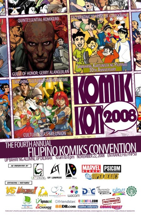 Official Poster for Komikon 2008