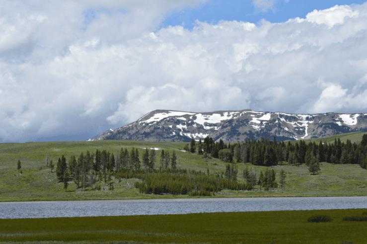 grannie geek, Gallatin Mountain Range near Norris and the Norris Geyser Basin