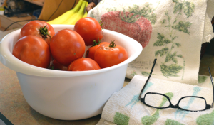 grannie geek, bowl of tomatoes