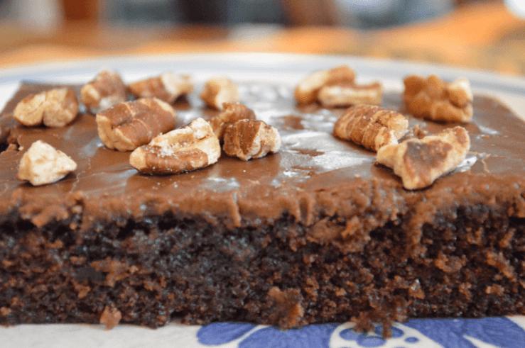 grannie geek, chocolate texas sheet cake
