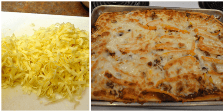 grannie geek, cheese on baked ultimate pizza