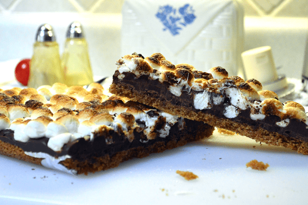 grannie geek, simple quick smore bars