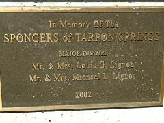 at mimis table sponge diver memorial plaque
