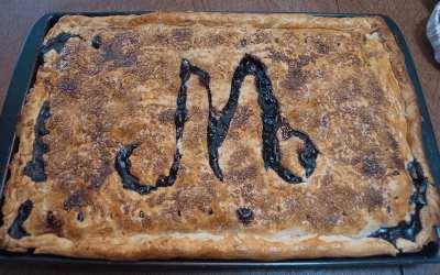 Quick Blueberry Slab Pie