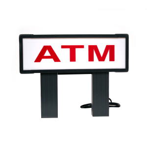 Genmega Red and White topper - Red and White Low ATM Topper for Tranax/Genmega 1700, 1700W, G1900, G2500
