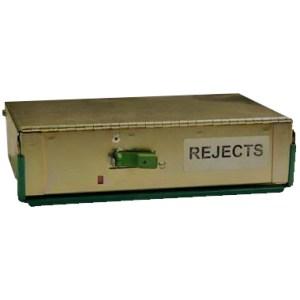 Talaris rejects bin - De La Rue Reject Cassette