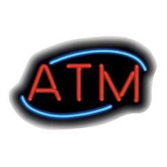 atm deco neon sign - ATM Deco Neon Sign