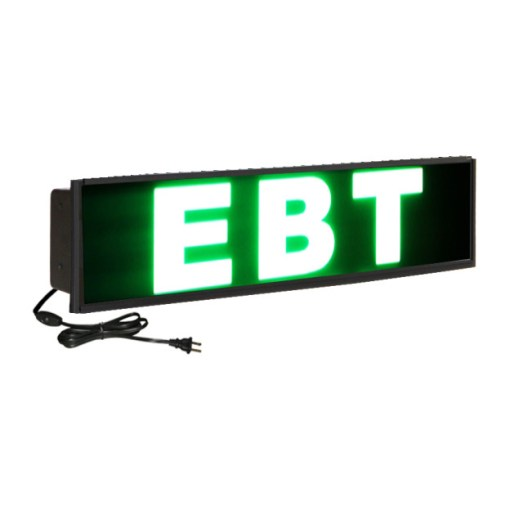ebt sign 624x661 - EBT - Mirroxy ATM Lighted Sign - Single Bulb