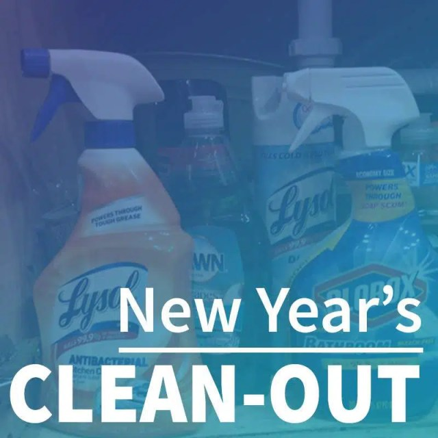 New Years Clean Out