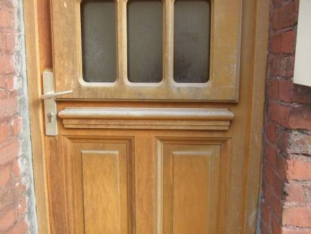 wood door with old clenche