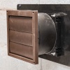 Installed ATMOX crawl space intake fan with louver attached and not running