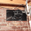 Installed photo of a mounted ATMOX crawl space fan