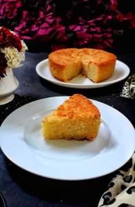 Eggless Semolina Coconut Cake / Rava Coconut Cake / Suji Coconut Cake