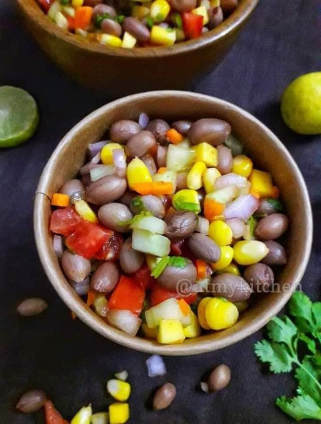 Beach Style Verkadalai Sundal / Masala Peanut Chaat / Boiled Peanut Salad