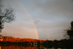 Rainbow Early Evening | October 22, 2013, 5:41 pm